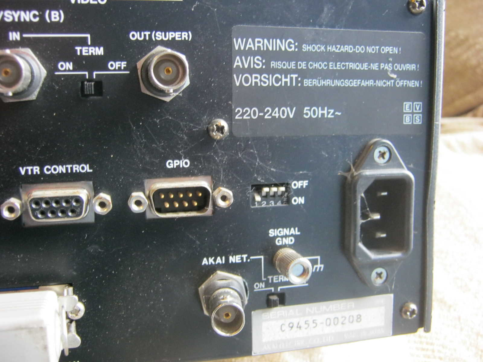 Akai DD 1500m Serial Number