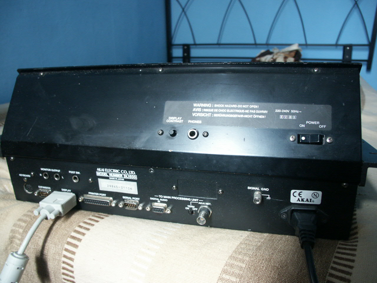 Akai DL1500 Rear view