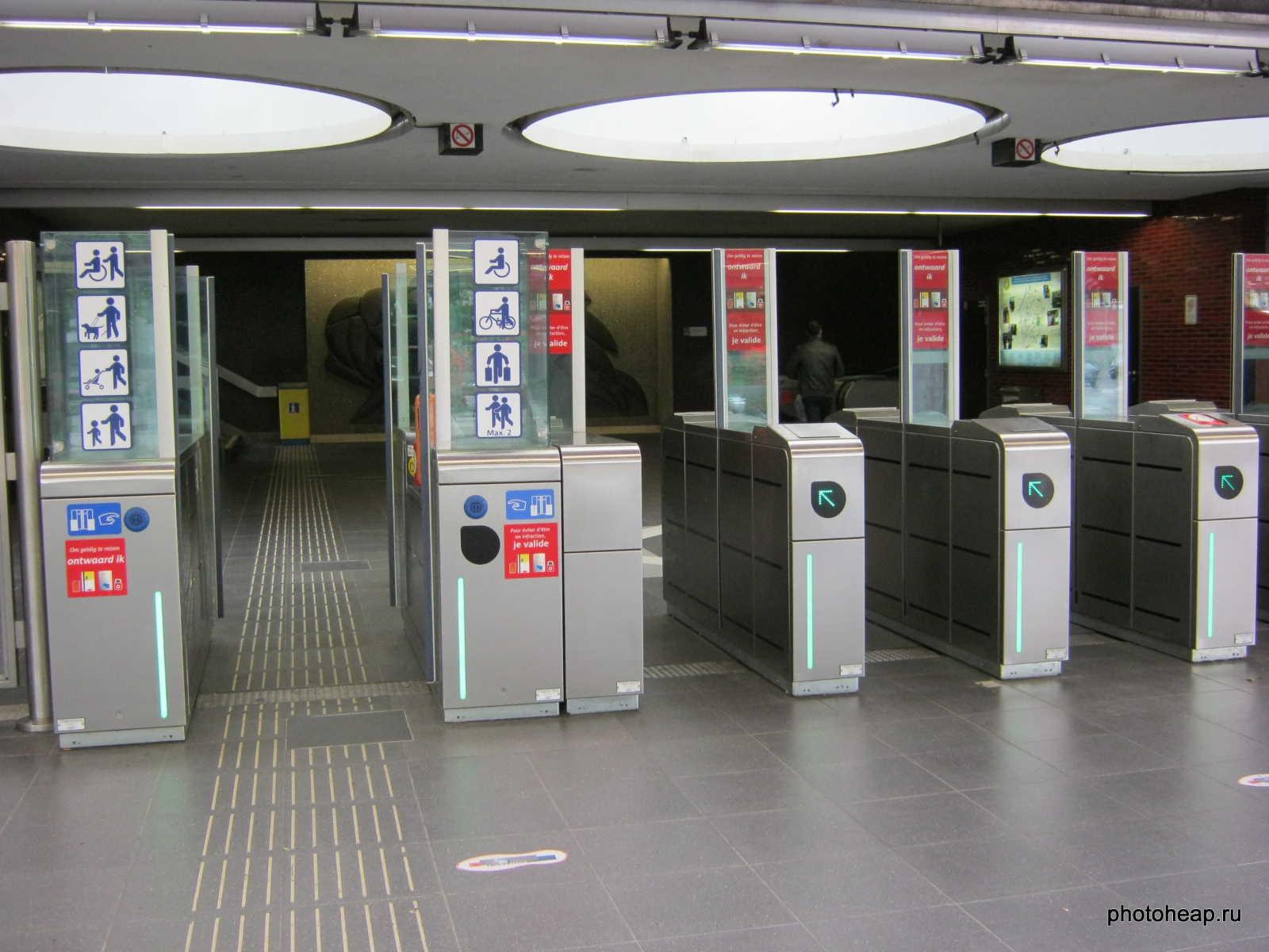 Brussels - Metro entrance