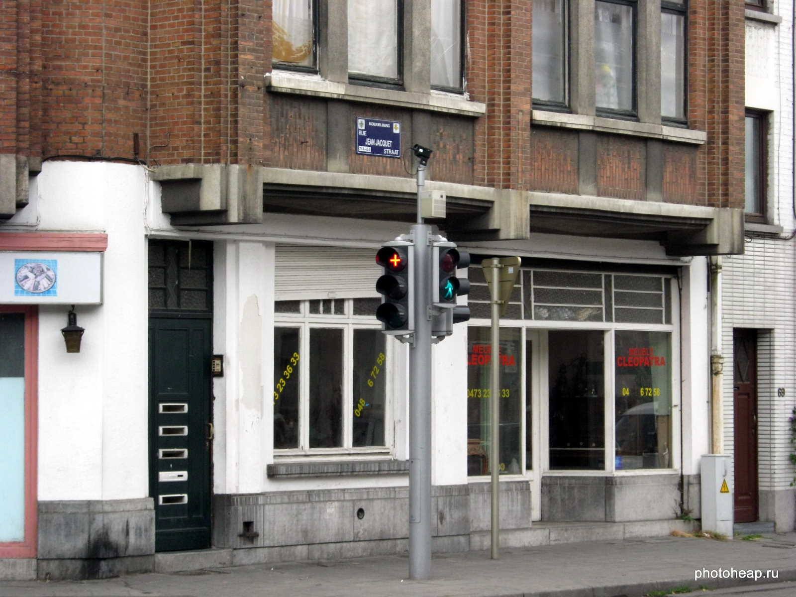 Brussels - Red cross traffic lights