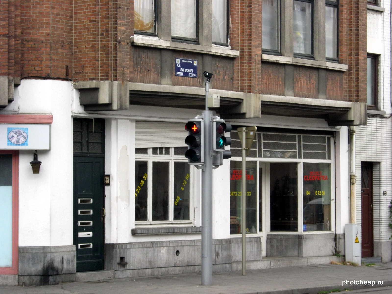 Brussels - Red cross traffic lights