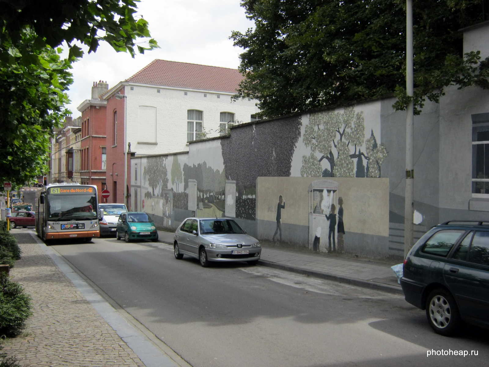 Brussels wall painting