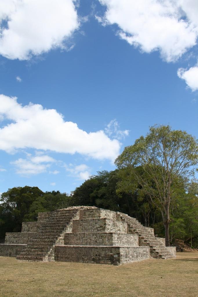 Mayan Pyramid in Copan, Honduras
