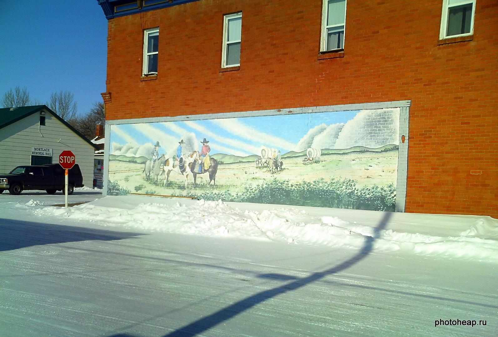 Cowboys mural