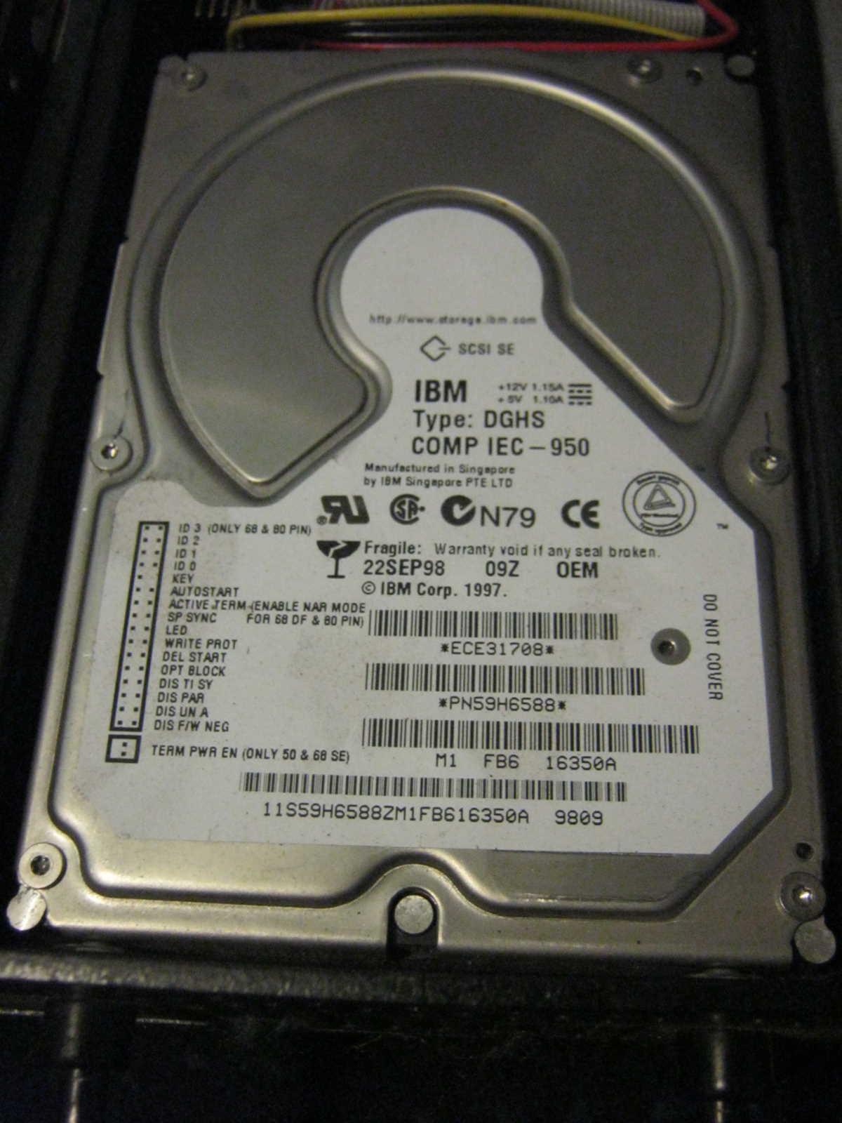 IBM SCSI Drive