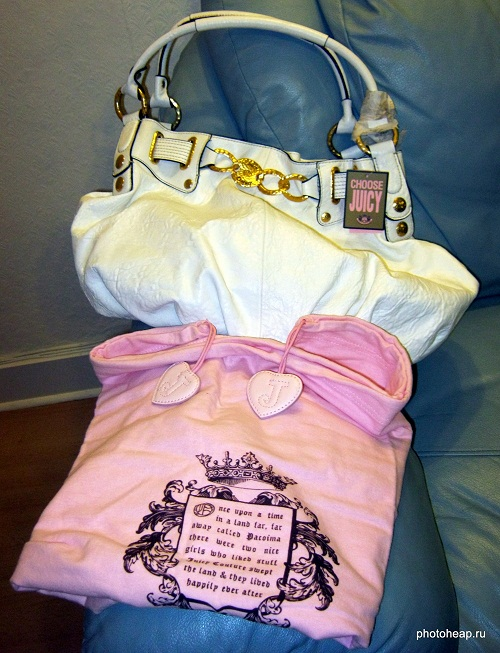 Juicy Couture bag and holder