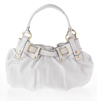 Juicy Couture White Free Style Leather Tote Bag - back