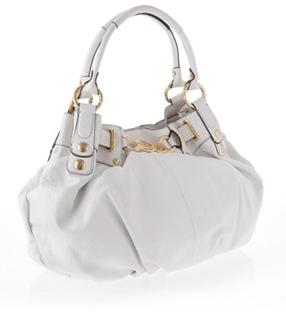 Juicy Couture White Free Style Leather Tote Bag - side