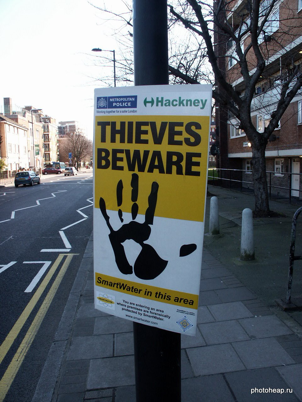 Thieves beware. SmartWater in this area.